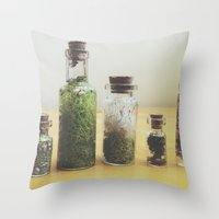oasis Throw Pillows featuring Oasis by Shiroshi