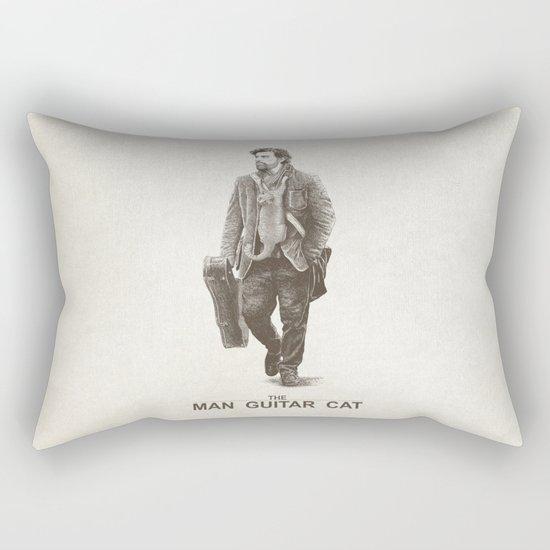 The Man Guitar Cat Rectangular Pillow