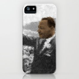Martin Luther King Junior Wall Art Portrait, Speech, Home Decor, Dorm Decor, Freedom, iPhone Case