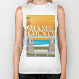 Orange County, California - Skyline Illustration by Loose Petals Biker Tank