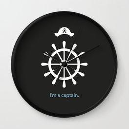 I'm a captain.(on black) Wall Clock