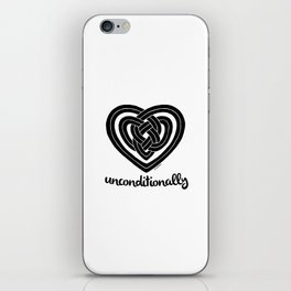 UNCONDITIONALLY in black iPhone Skin