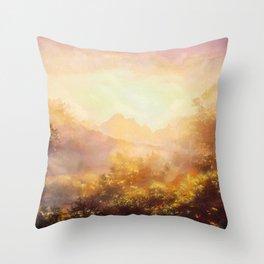 Spring at Ben Lomond in Stirling, Scotland Throw Pillow