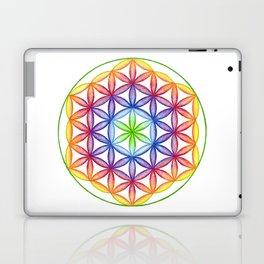 Rainbow Flower of Life - Rainbow Tribe Collection Laptop & iPad Skin