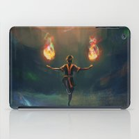 airbender iPad Cases featuring Firebender by AngHuiQing