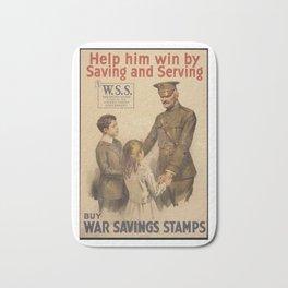 Vintage US War Savings Stamps Bath Mat