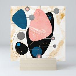 Mid Century Pebbles Mini Art Print