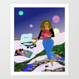 Midnight Records Art Print