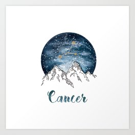 Cancer Watercolour Painting Art Print