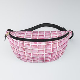 Pink Watercolor Tile Pattern Fanny Pack