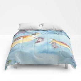 Take A Breath Sea Turtle Comforters