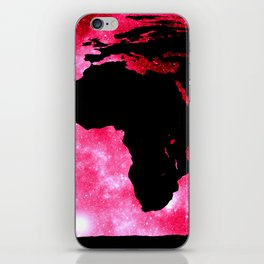 World Map : Red Hot Pink Galaxy iPhone Skin