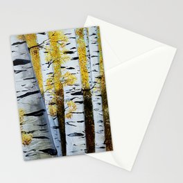 Birch Grove, acrylic painting, inspired by Belarus Stationery Cards