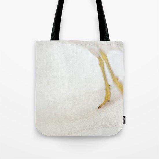 Gull Skiing Tote Bag