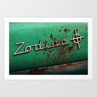 zodiac Art Prints featuring Zodiac by Treyson Bird