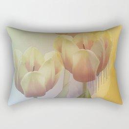 Tulips in golden light Rectangular Pillow