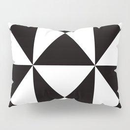 Geometric Pattern #45 (black white triangles) Pillow Sham