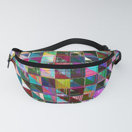 glitch color pattern Fanny Pack