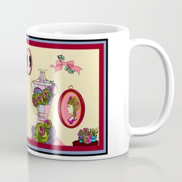 A Garden Wall with Dress Form and Succulents Coffee Mug