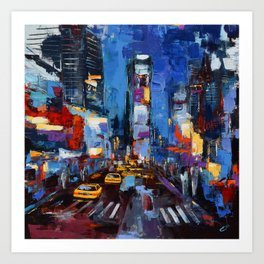 Saturday Night in Times Square Art Print