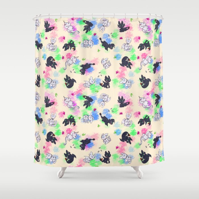 Toopliss and Nubless Shower Curtain