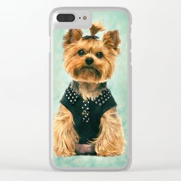 Watercolor art Yorkshire Terrier Clear iPhone Case