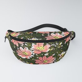 Flower garden with painted flowers Fanny Pack
