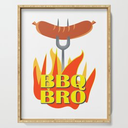 BBQ Bro Your Grill Party Bestie Serving Tray
