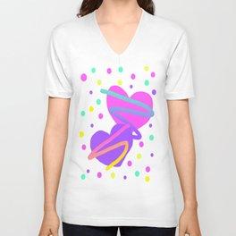Confetti Hearts Unisex V-Neck