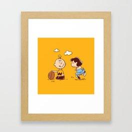 Snoopy Charlie plays Framed Art Print