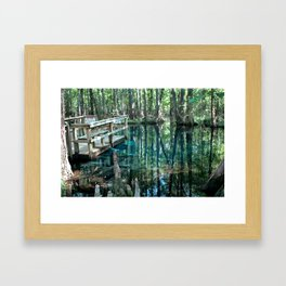 Little Blue Spring Pool Framed Art Print