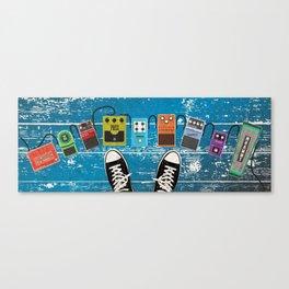 Guitar Music Effect Pedals Canvas Print
