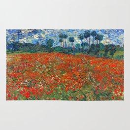 Vincent Van Gogh - Poppy Field Rug