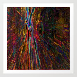 Re-Created Rapture 4 by Robert S. Lee Art Print