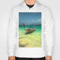 thailand Hoodies featuring Thailand Longboat by Adrian Evans