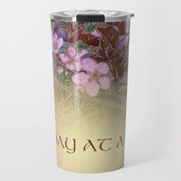 ODAT Plum Blossoms on Green Travel Mug