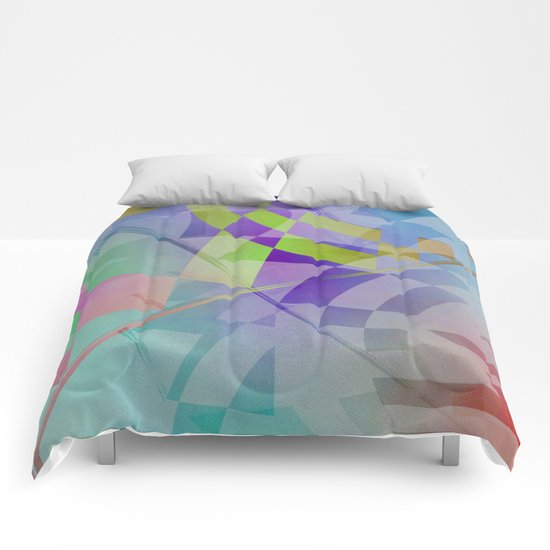 Multicolored abstract no. 68 Comforters