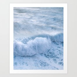 Crashing wave at the coast in a summer sunset – Oceanscape Photography Art Print
