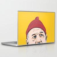 steve zissou Laptop & iPad Skins featuring Steve Zissou by Jeroen van de Ruit