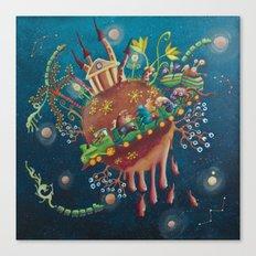 the intergalactic train Canvas Print