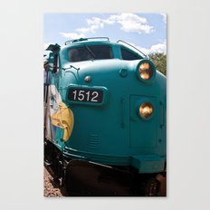 Train In Your Face Canvas Print