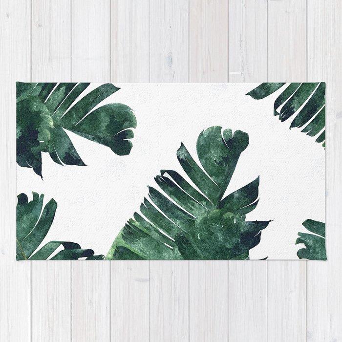 Banana Leaf Watercolor Society6 Buy Decor Rug By