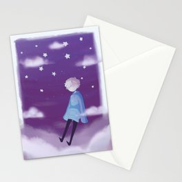 tired boy Stationery Cards