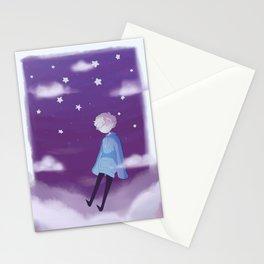 tired boy Stationery Cards