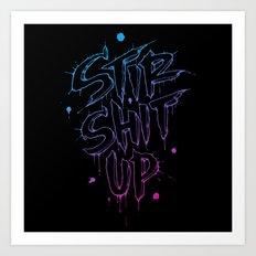 Stir Shit Up // Pink + Blue Art Print