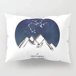 Astrology Sagittarius Zodiac Horoscope Constellation Star Sign Watercolor Poster Wall Art Pillow Sham