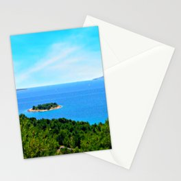 Lonely Island. Adriatic Sea, Europe Stationery Cards