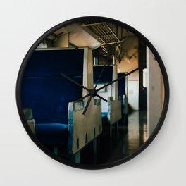 Empty Train Wall Clock