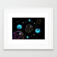 starry night Framed Art Prints featuring Starry Starry Night by inkedsandra