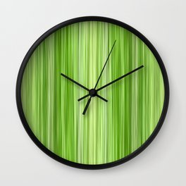 Green 3 Wall Clock